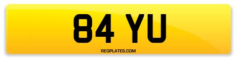 Registration 84 YU
