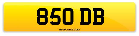 Registration 850 DB