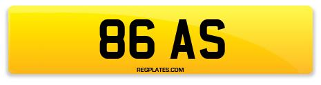 Registration 86 AS