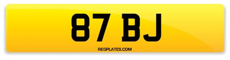 Registration 87 BJ