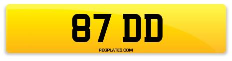 Registration 87 DD