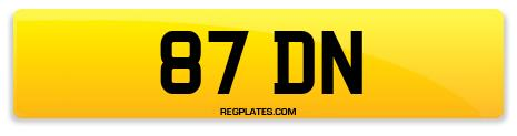 Registration 87 DN