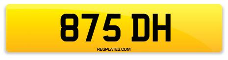 Registration 875 DH