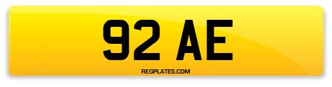 Registration 92 AE