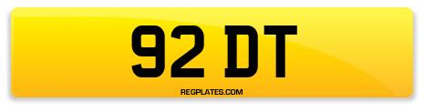 Registration 92 DT