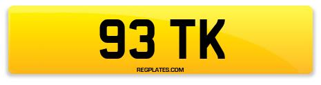 Registration 93 TK