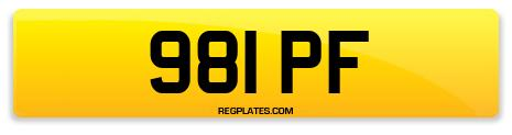 Registration 981 PF
