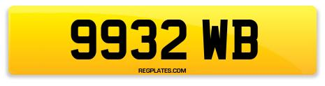 Registration 9932 WB