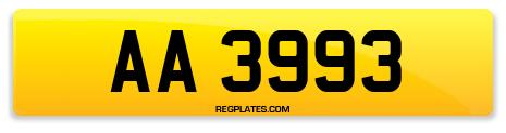 Registration AA 3993