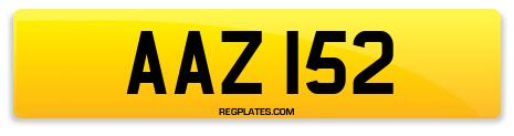 Registration AAZ 152