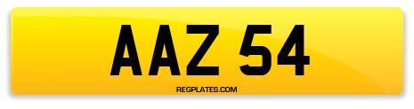 Registration AAZ 54