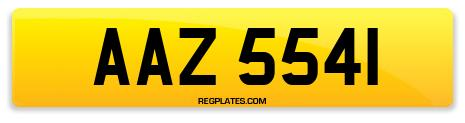 Registration AAZ 5541