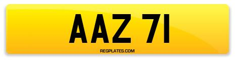 Registration AAZ 71