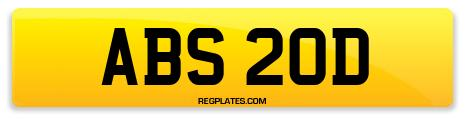 Registration ABS 20D