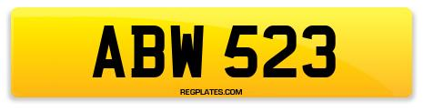 Registration ABW 523