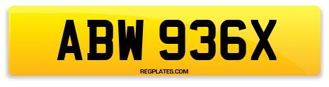 Registration ABW 936X
