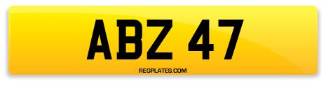 Registration ABZ 47