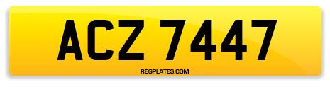 Registration ACZ 7447
