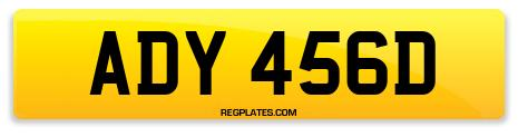Registration ADY 456D