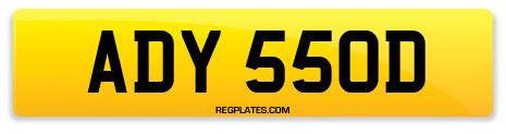 Registration ADY 550D