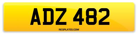 Registration ADZ 482