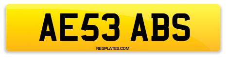 Registration AE53 ABS