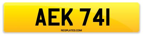 Registration AEK 741