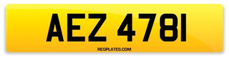 Registration AEZ 4781
