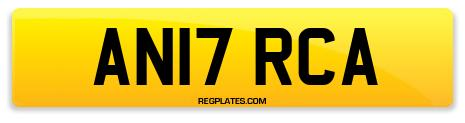 Registration AN17 RCA