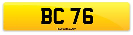 Registration BC 76