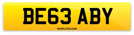 Registration BE63 ABY