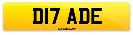 Registration D17 ADE