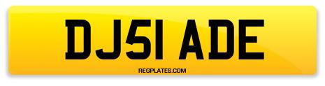 Registration DJ51 ADE