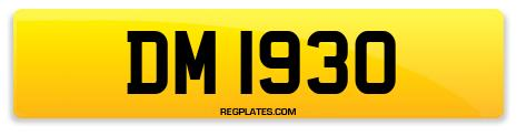 Registration DM 1930