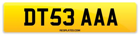 Registration DT53 AAA