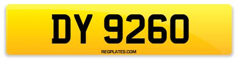 Registration DY 9260