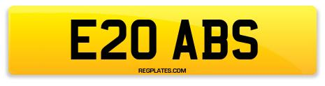 Registration E20 ABS