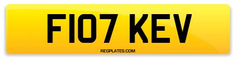 Registration F107 KEV