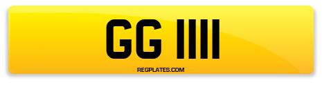 Registration GG 1111