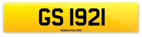 Registration GS 1921