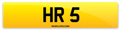 Registration HR 5