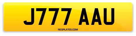 Registration J777 AAU