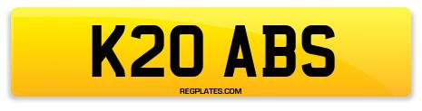 Registration K20 ABS