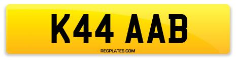 Registration K44 AAB