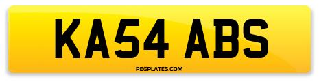 Registration KA54 ABS