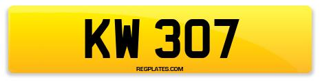 Registration KW 307