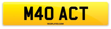 Registration M40 ACT