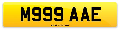 Registration M999 AAE