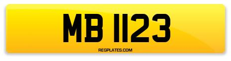 Registration MB 1123