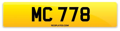 Registration MC 778